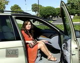 Lisa Guerrero - Legs, Cleavage -- Getting out of the car. -12/3