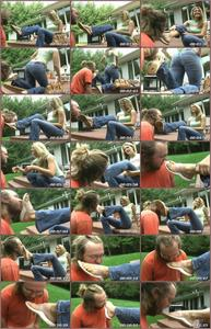 Gets Her Sandals Cleaned Female Domination